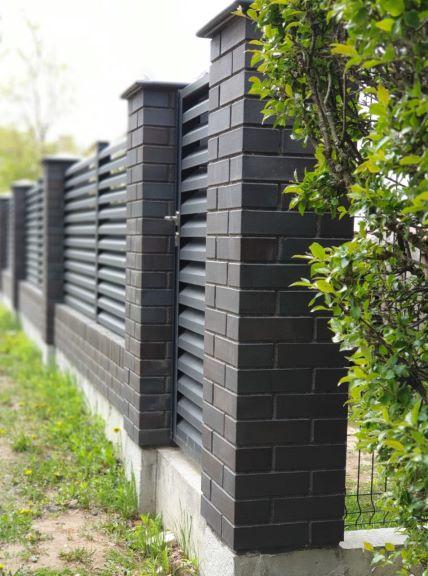 Žaliuzi skardinė tvora